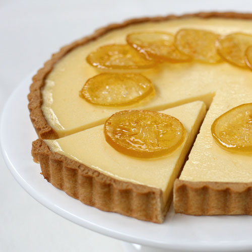 Lemon Tart with Candied Lemons | butter sugar flour